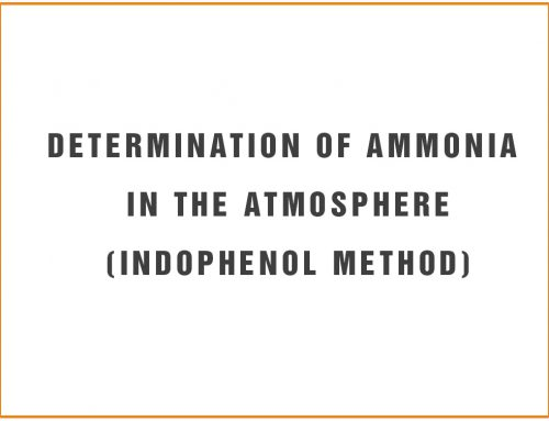 Determination of Ammonia in the Atmosphere(Indophenol Method)