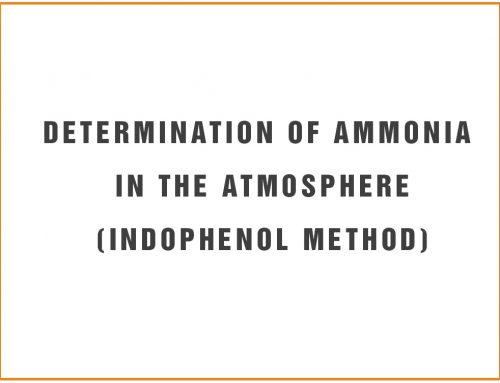 Determination of Ammonia in the Atmosphere(Indophenol Method)