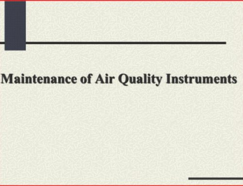Maintenance of Air Quality Instruments