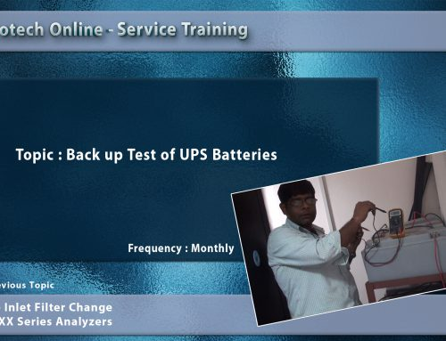 Back up Test of UPS Batteries