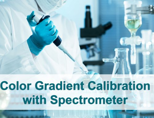 Color Gradient Calibration with Spectrometer