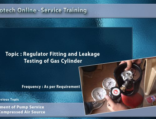Regulator Fitting and Leakage Testing of Gas Cylinder