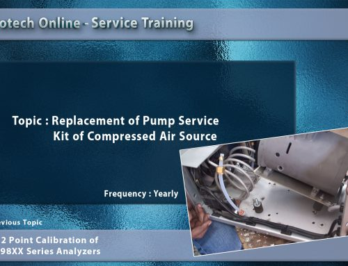 Replacement of Pump Service Kit of Compressed Air Source