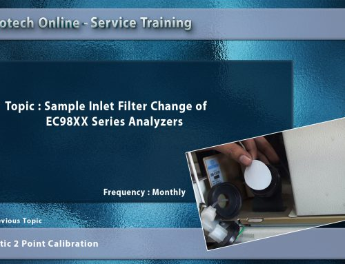 Sample Inlet Filter Change of EC98XX Series Analyzers