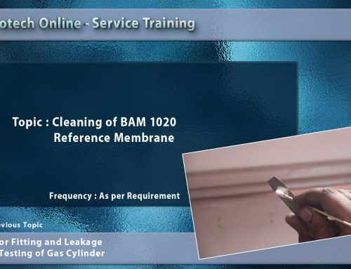 Cleaning of BAM 1020 Reference Membrane